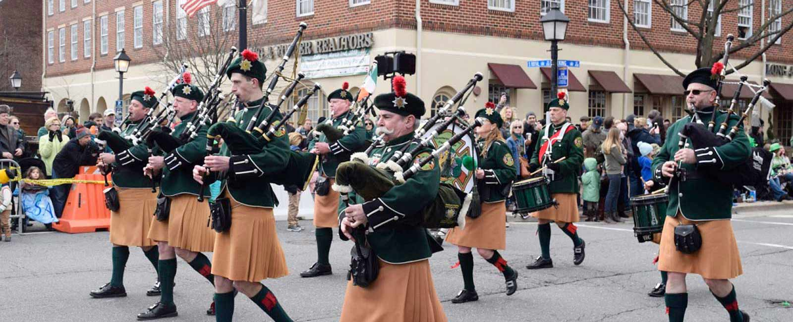 Saint Patrick's Day Parade in Old Town, Alexandria, Virginia - The Ballyshaners, Inc.